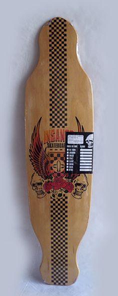 Shape Skate Longboard Insanos 39,15 - R$ 127,00 no MercadoLivre
