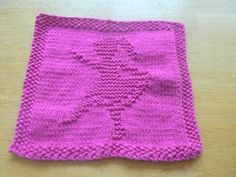 Little Ballerina Dancer Washcloth  Handknit | hollyknittercreations - Knitting on ArtFire