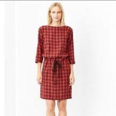 GAP Dresses - ❌SOLD❌NWT GAP Red Checkered Drawstring Dress
