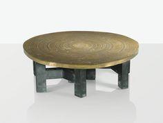 Ado Chale   bronze top table