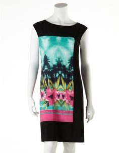 cleo - Tropical Print Dress (Petite Only)