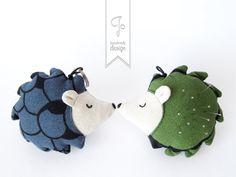 Mr. Hedgehog, Plush Toy Pattern PDF by Jo - handmade design