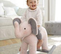 Monique Lhuillier Elephant Plush Rocker | Pottery Barn Kids