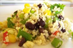 made this delicious couscous and black bean salad today: multiple foodgasms.