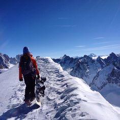 Ready to ski the Valle Blanche in Chamonix. That's the longest Glacier skirun in Europe. Alps, Mount Everest, Skiing, Europe, Mountains, Nature, Travel, Ski, Naturaleza