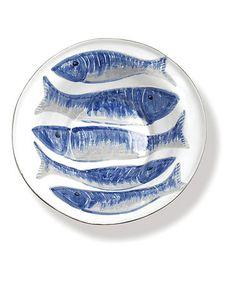 Look at this #zulilyfind! Blue Pesci Serving Bowl #zulilyfinds