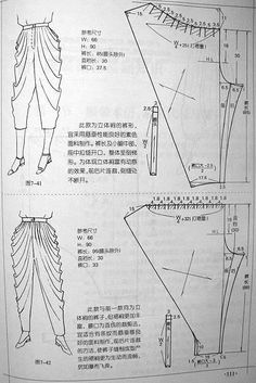 Most up-to-date Snap Shots sewing pants Suggestions Sewing pants tutorial costura 52 ideas Sewing Pants, Sewing Clothes, Diy Clothes, Dress Sewing Patterns, Clothing Patterns, Pants Tutorial, Blouse Tutorial, Modelista, Pattern Cutting