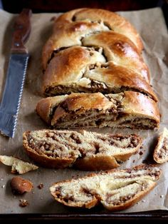 The ultimate sweet bread— braided challah stuffed with a swirled cinnamon-walnut filling. Whole Wheat Challah Recipe, Challah Bread Recipes, Best Challah Recipe, Wheat Bread Recipe, Fig Recipes, Jewish Recipes, Pudding Recipes, Sweet Recipes, Biscuits
