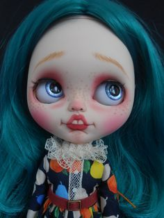 Custom RBL Faceplates For Blythe Doll por Spookykidsworkshop