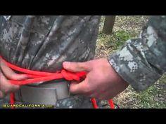 Army Ranger School Basics Knots The Rappel Seat #1 YouTube - YouTube