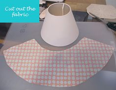 covering lamp shade with fabric using glue do no sewing required.