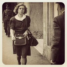 Andree Geulen, a teacher in Brussels. When in 1942 some of her students arrived with yellow stars sewn on their clothes, she instructed the entire class, Jews & non-Jews, to wear aprons, so as to cover the stars. Geulen was active in the Comité de Défence des Juifs, where Jews & non-Jews joined forces to hide Jewish children & save 100s from death. In 1943, the school was raided. Asked if she wasn't ashamed to teach Jews, she replied: 'Aren't you ashamed to make war on children?'.