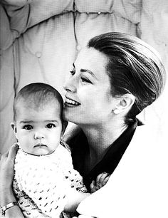 Grace Kelly with her youngest daughter, Stéphanie