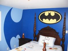 Cerena wants this but in pink and purple!  Batman Superhero Wall Murals for Kid Bedroom
