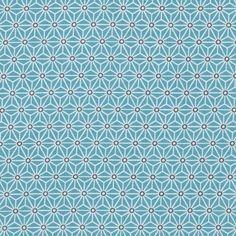 Tissu coton bleu Saki  - Mondial Tissus