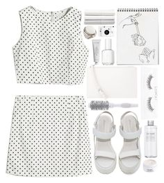 Untitled #866 by ladyvalkyrie on Polyvore featuring polyvore, fashion, style, Jeffrey Campbell, H&M, Byredo, Diptyque, MANGO, Essie, Sephora Collection, Nordstrom, Lomography, Muji and clothing