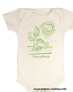 Photosynthesis Babysuit (Organic) Biology Baby Clothes Ecology Plants Green Learning Science Garden - http://www.babies-clothes.info/photosynthesis-babysuit-organic-biology-baby-clothes-ecology-plants-green-learning-science-garden.html