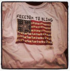 Freedom To Bling Eco Crew Tee