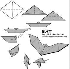 origami halloween | Halloween origami part 2 – caskets and bats! | Origami Paper Monster ...