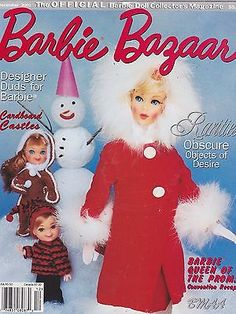 DEC 2001 - BARBIE BAZAAR vintage doll magazine