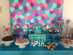 Under the Sea themed party. Under the sea backdrop. The little mermaid themed party. The little mermaid party ,  backdrops, Scales background.  #camifabcelebrations