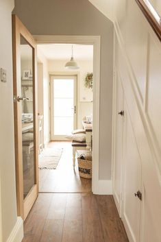 A pic of our modern farmhouse/cottage kitchen diner renovation reveal. - Before After DIY 1930s House Interior Kitchens, 1930s House Renovation, Modern Farmhouse Kitchens, Farmhouse Bench, Kitchen Modern, Country Kitchen Diner, 1930s Semi Detached House, Hallway Flooring, Wood Flooring