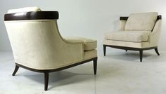 Pair Of Elegant Lounge Chairs By Erwin Lambeth For Tomlinson image 2