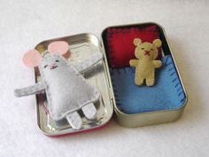 Custom Wee Mouse in Altoids Tin House - made to order. $24.00, via Etsy.