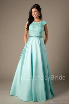 Prepare the dark blue prom dresses for the upcoming prom? Then you need to see coral satin lace long modest prom dresses 2017 cap sleeves a-line beaded elegant beaded girls formal mint evening prom party dresses cheap in totallymodest and other dress for Dark Blue Prom Dresses, Modest Formal Dresses, Prom Dresses 2017, Trendy Dresses, Dance Dresses, Aqua Prom Dress, Gold Dress, Pageant Dresses, White Dress
