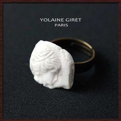 YOLAINE GIRET カメオリング