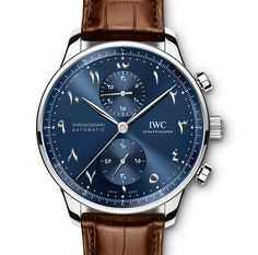 """Introducing the IWC Portugieser Chronograph Dubai Edition with Eastern Arabic Numerals"" via @watchville"