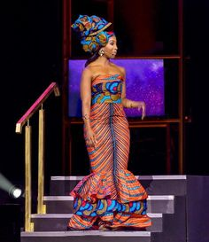 Style Crush Sunday All the Glam from the Annual South African Film and Television Awards 13 Host wore a… African Print Dresses, African Fashion Dresses, African Dress, African Outfits, African Prints, South African Traditional Dresses, Traditional Outfits, South African Fashion, African Print Fashion
