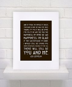 I LOVE this...was a request... - CUSTOM  Thank You Led Zeppelin Lyrics   11x14 by KeepItFancy, $17.00