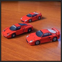 Mini Enzo Ferrari Paper Car Free Vehicle Paper Model Download - http://www.papercraftsquare.com/mini-enzo-ferrari-paper-car-free-vehicle-paper-model-download.html