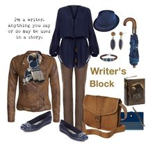 """""""Writer's Block"""" by illogicallyunemotional on Polyvore featuring Per Una, ViX, Fountain, Chaps, Platadepalo, Billabong, VILA, Anne Klein, Pendleton and Charlotte Russe"""