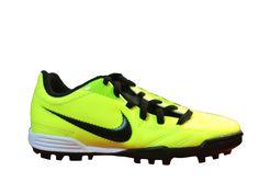 NIKE- BOTA T90 EXACTO JR. TF. REF. 509019-703 Verde fluor-negra - Fútbol -  Calzado - Niños b35b08c7df882