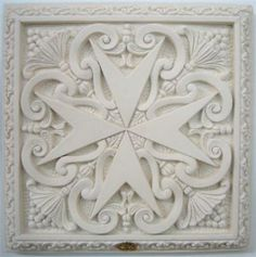 Maltese Cross in Lime Stone                                                                                                                                                                                 More