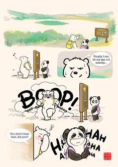 Commission: Our First Hiking Date – Panda and Polar Bear Cute Bear Drawings, Cartoon Drawings, Panda Bears, Panda Panda, Cute Panda Cartoon, Happy Birthday Drawings, Chibi Cat, Doodle Books, Kawaii Illustration