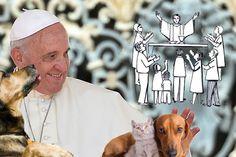 """Por medio de un correo electrónico el pontífice solicitó a todas las parroquias del mundo hizo que dejen entrar perros y """"gaticos que sepan comportarse"""" a misa. La misiva del sumo pontífice ratifica el derecho a los animales a hacer parte de dicho sacramento."""
