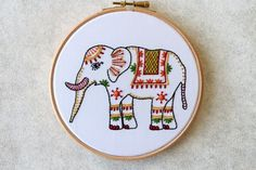 Elephant Embroidery Pattern PDF Embroidery Pattern Animal | Etsy Diy Embroidery Kit, Floral Embroidery Patterns, Learn Embroidery, Hand Embroidery Designs, Embroidery Stitches, Gifts Love, Craft Kits, Etsy, Elephant
