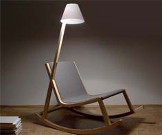 Generate electricity while having fun rocking back and forth with this power generating rocking chair. This eco-friendly rocking chair features a built in lamp which is powered through the natural rocking motion you create while sitting.