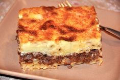 Greek Pastitsio Recipe - Recipe for Baked Pasta with Meat and Bechamel Sauce (Pastitsio)