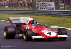Jacky Ickx, Ferrari 312B2, #4, (finished 1st), German GP, held at Nürburgring on July 30, 1972.
