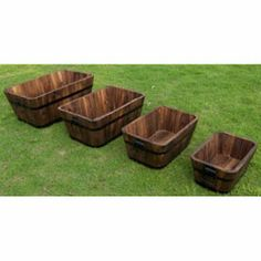 @Overstock.com - Cedar Wood Rectangular Planters (Set of 4) - These rectangular planters are naturally stylish and made to last. Hand-crafted with real cedar wood, they will surely make an attractive display for any outdoor living area.     http://www.overstock.com/Home-Garden/Cedar-Wood-Rectangular-Planters-Set-of-4/6425901/product.html?CID=214117 $74.99