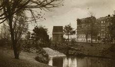 1930 Gezicht op de waterval aan het eind van de Heemraadssingel bij de Rochussenstraat