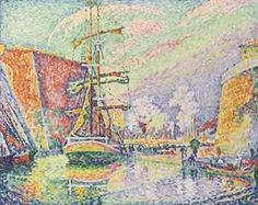 Marseille, le port. Paul Signac (1863-1935) Marseille, le port stamped with the signature 'P. Signac' (Lugt 2285b; lower right) oil on canvas . (73 x 92 cm.) Painted in 1934
