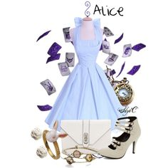 Alice - Disney's Alice in Wonderland by rubytyra on Polyvore featuring мода, Rebecca Minkoff, Accessorize, disney, aliceinwonderland and disneybound