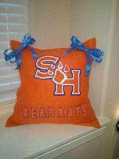 Sam Houston Bearkats Orange Burlap Pillow https://www.etsy.com/listing/157317722/sam-houston-bearkats-orange-burlap?ref=listing-shop-header-0