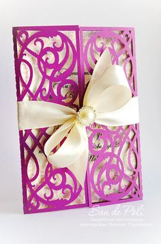 "Card Template Swirls stencil Scroll door gate folds Wedding invitation 5x7"" (svg…"