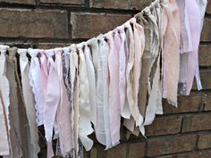 Linen Lace and Burlap Garland Shabby Chic Garland Rustic Wedding Garland. $32.00, via Etsy.